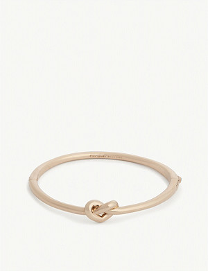 KATE SPADE NEW YORK Loves Me Knot gold-plated bangle