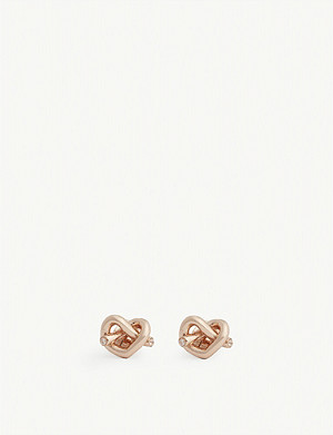 KATE SPADE NEW YORK Loves Me Knot gold-plated earrings