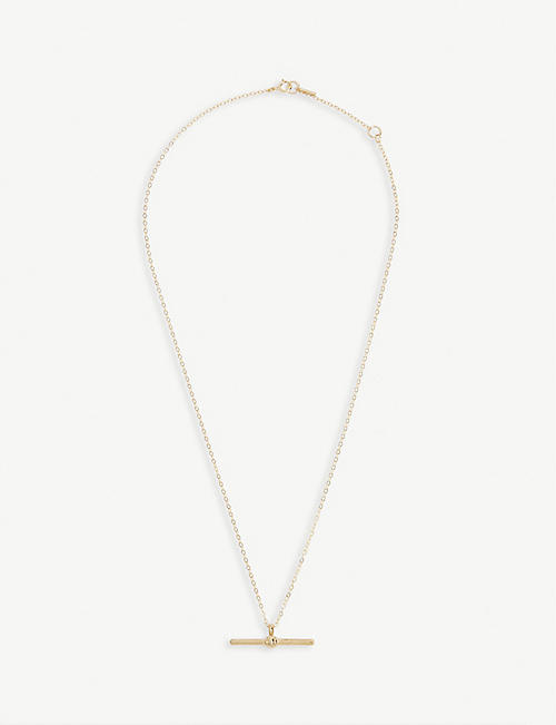 AMME LONDON T-bar 9ct gold necklace