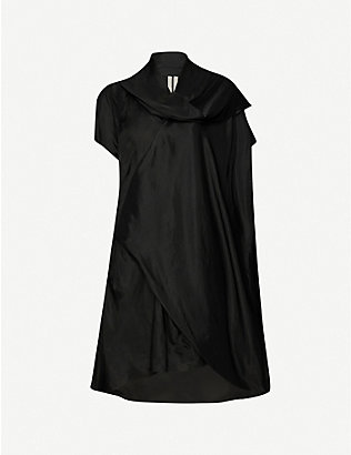 RICK OWENS: Cyclops draped satin mini dress