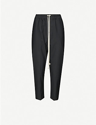 RICK OWENS: Dropped-crotch woven trousers