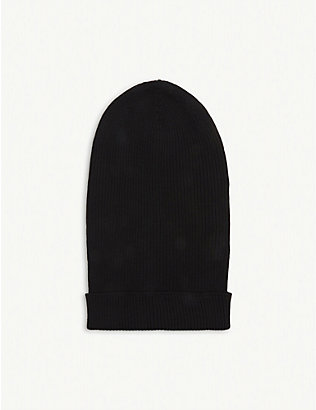 RICK OWENS: Oversized virgin wool beanie