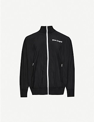 PALM ANGELS: Logo-print shell tracksuit jacket