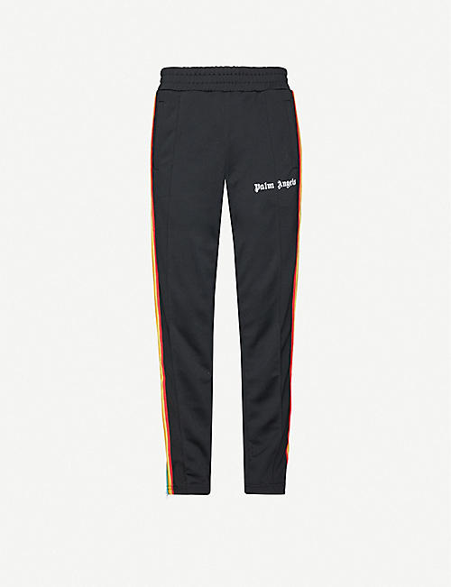PALM ANGELS Rainbow-stripe jersey jogging bottoms