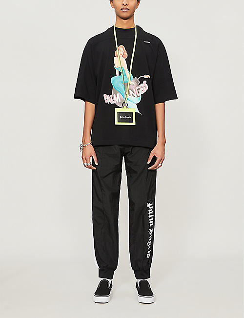 PALM ANGELS Logo-print shell jogging bottoms