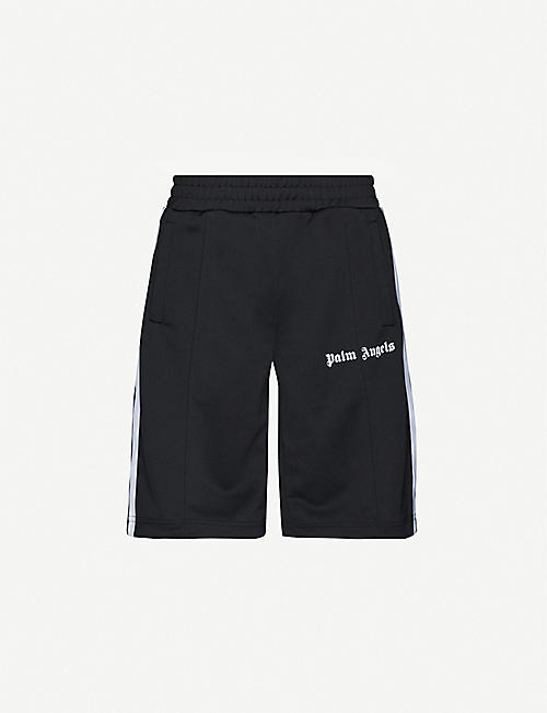 PALM ANGELS Logo-print jersey shorts