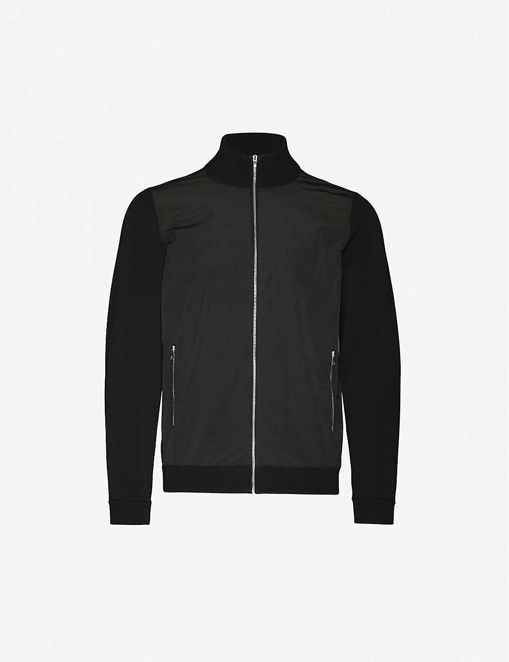 REISS: Forbes zipped stretch-woven-shell jacket