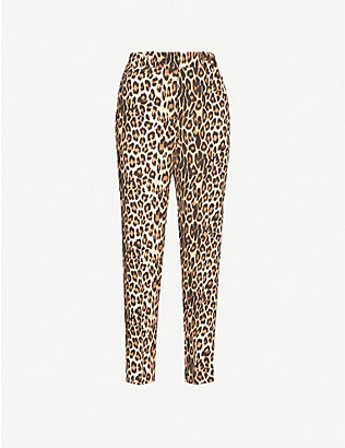 THE KOOPLES: Leopard-print trousers