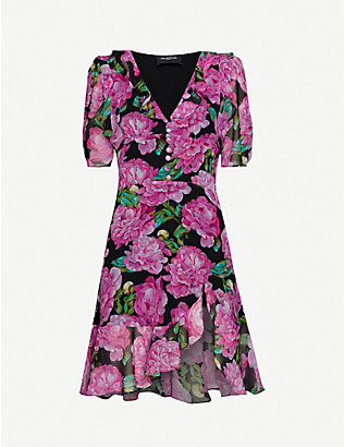 THE KOOPLES: Floral-print crepe maxi dress