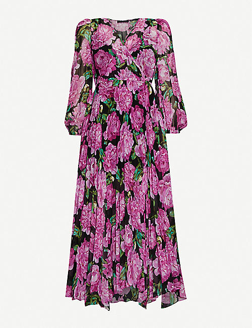THE KOOPLES: Floral-print crepe midi dress
