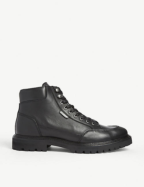 THE KOOPLES Logo tab mid height leather boots