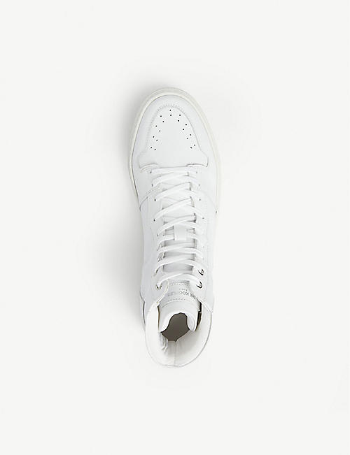 THE KOOPLES Perforated high-top leather trainers