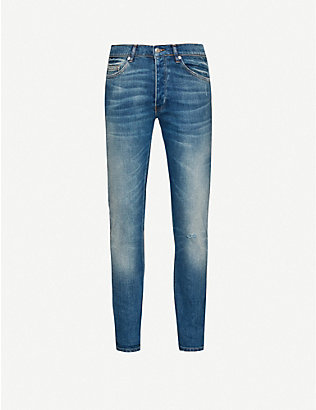 THE KOOPLES: Distressed tapered slim-fit jeans
