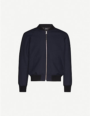 THE KOOPLES: Slim-fit wool-blend bomber jacket
