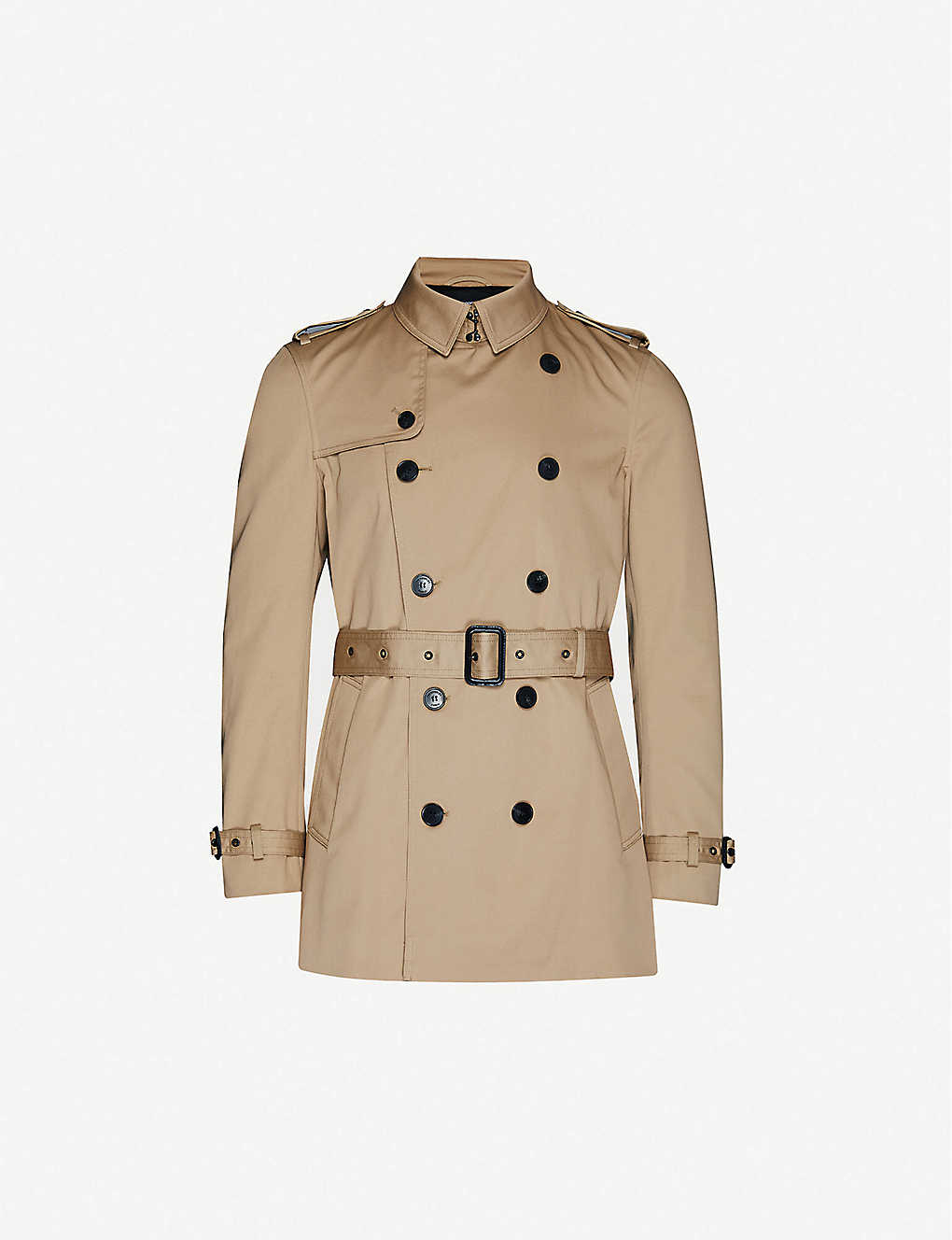 THE KOOPLES: Slim-fit stretch-cotton coat