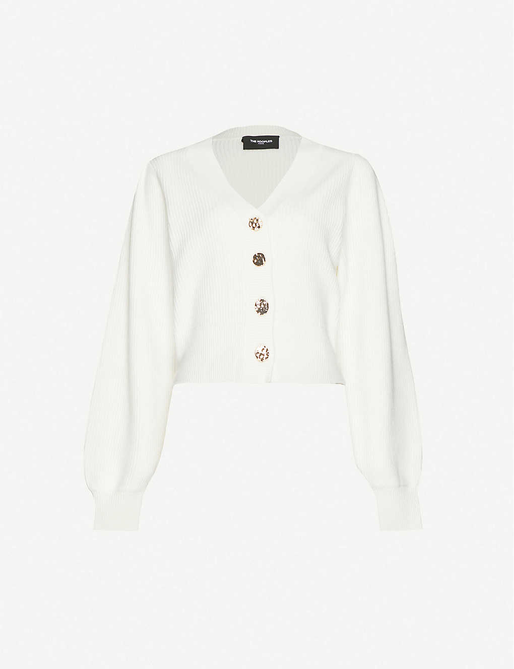 THE KOOPLES: Cropped V-neck wool cardigan