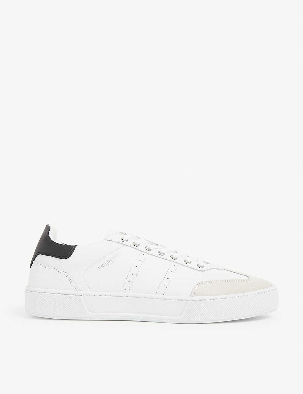 THE KOOPLES: Suede and leather low-top trainers