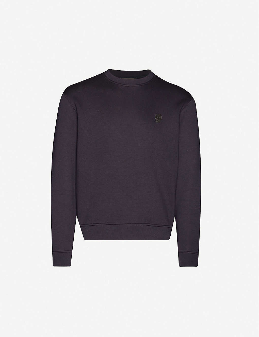 THE KOOPLES: Brand-patch stretch-woven sweatshirt