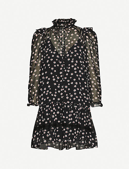 THE KOOPLES SPORT Floral-print crepe dress