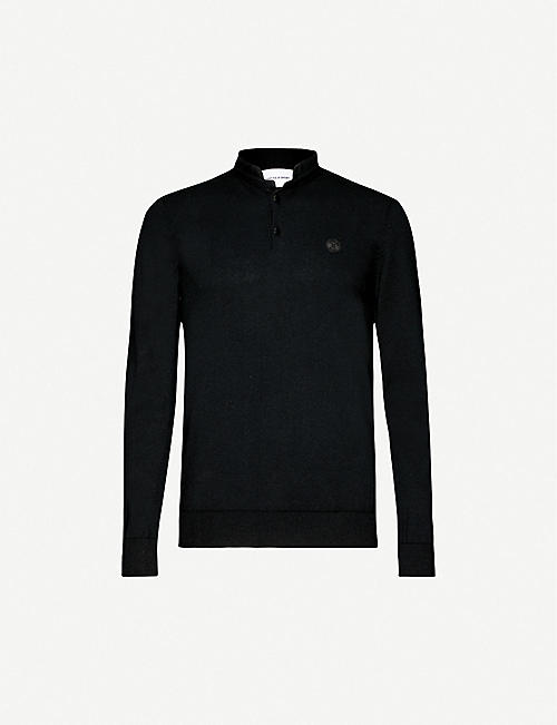 THE KOOPLES SPORT: Brand-patch cotton and wool-blend jumper
