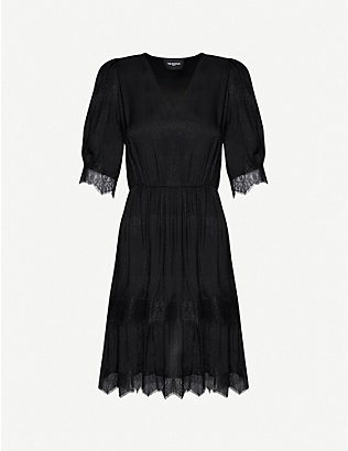 THE KOOPLES: Crochet-print woven midi dress