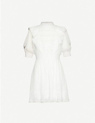 THE KOOPLES: Embroidered crepe midi dress