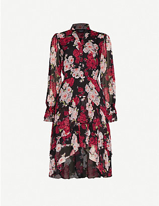 THE KOOPLES: Floral print chiffon midi dress