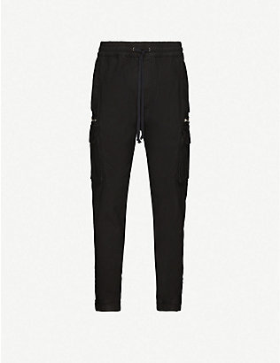 THE KOOPLES SPORT: Cropped tapered cotton trousers