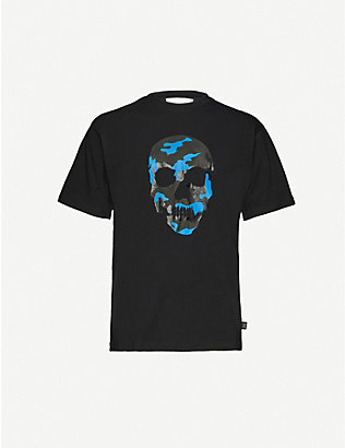 THE KOOPLES SPORT: Graphic-print stretch-jersey T-shirt