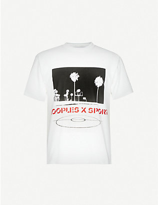 THE KOOPLES SPORT: Graphic-print cotton-jersey T-shirt