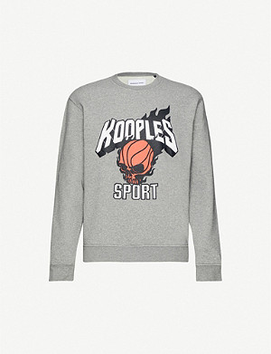 THE KOOPLES SPORT Graphic-print cotton stretch-jersey sweatshirt