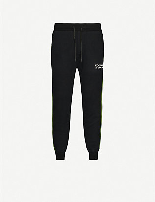 THE KOOPLES SPORT: Tapered cotton jogging bottoms