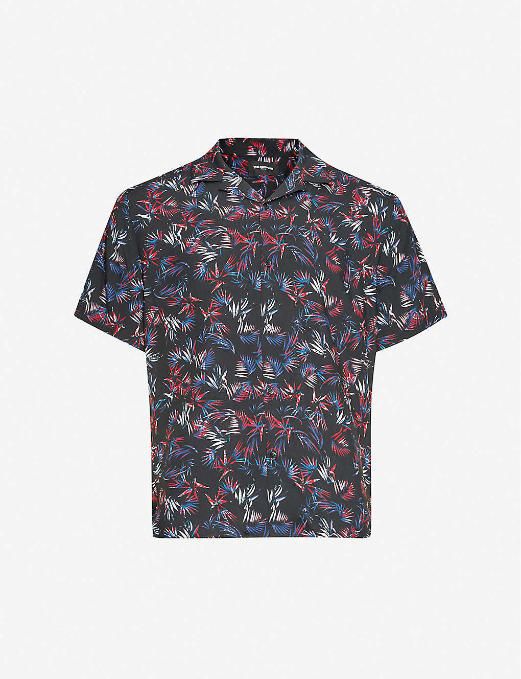 THE KOOPLES: Floral-print relaxed-fit crepe shirt