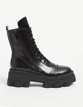 THE KOOPLES: Chunky lace-up leather boots