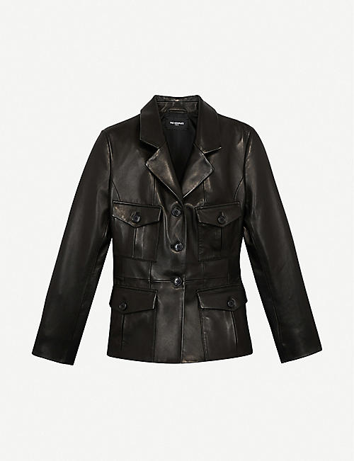 THE KOOPLES: Single-breasted leather blazer