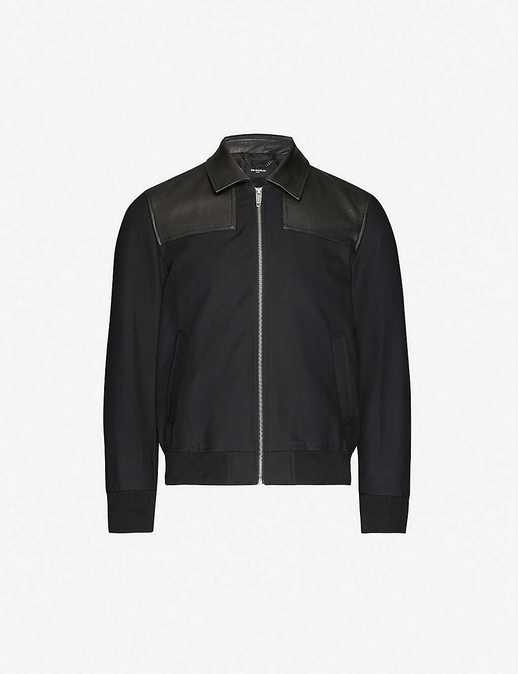 THE KOOPLES: Relaxed-fit cotton and leather jacket