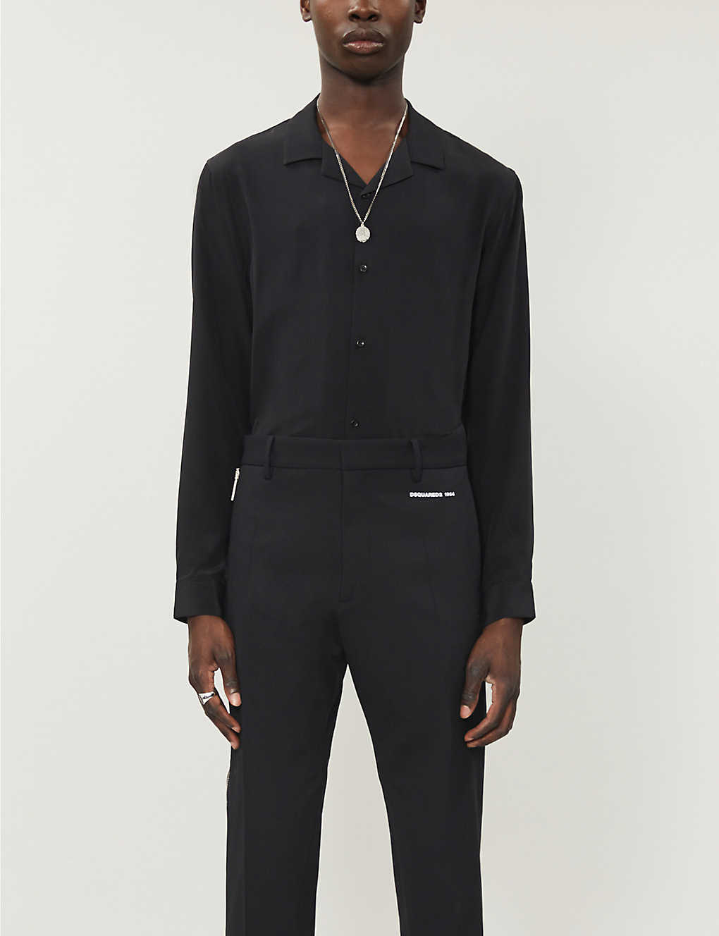 THE KOOPLES: Relaxed-fit silk shirt