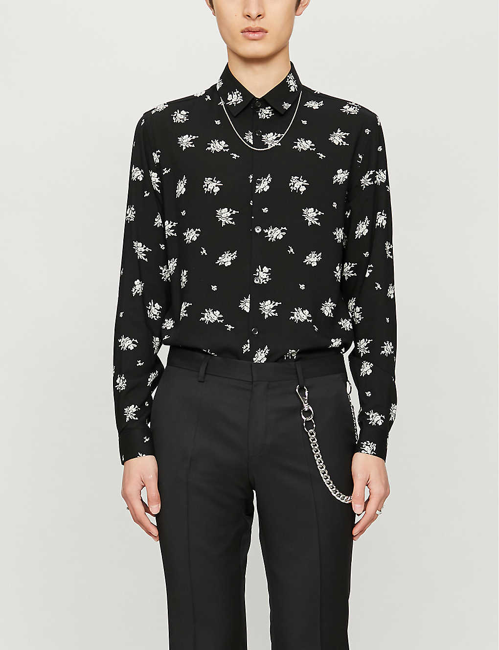 THE KOOPLES: Floral-print relaxed-fit woven shirt