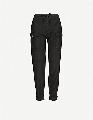 THE KOOPLES: Cargo linen-blend twill trousers
