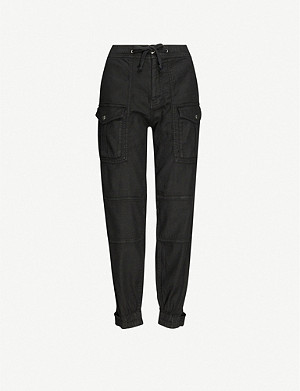 THE KOOPLES Cargo linen-blend twill trousers
