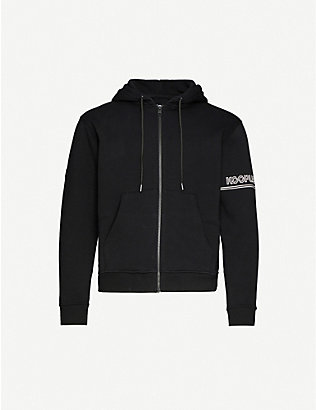 THE KOOPLES SPORT: Branded relaxed-fit cotton-blend jersey hoody