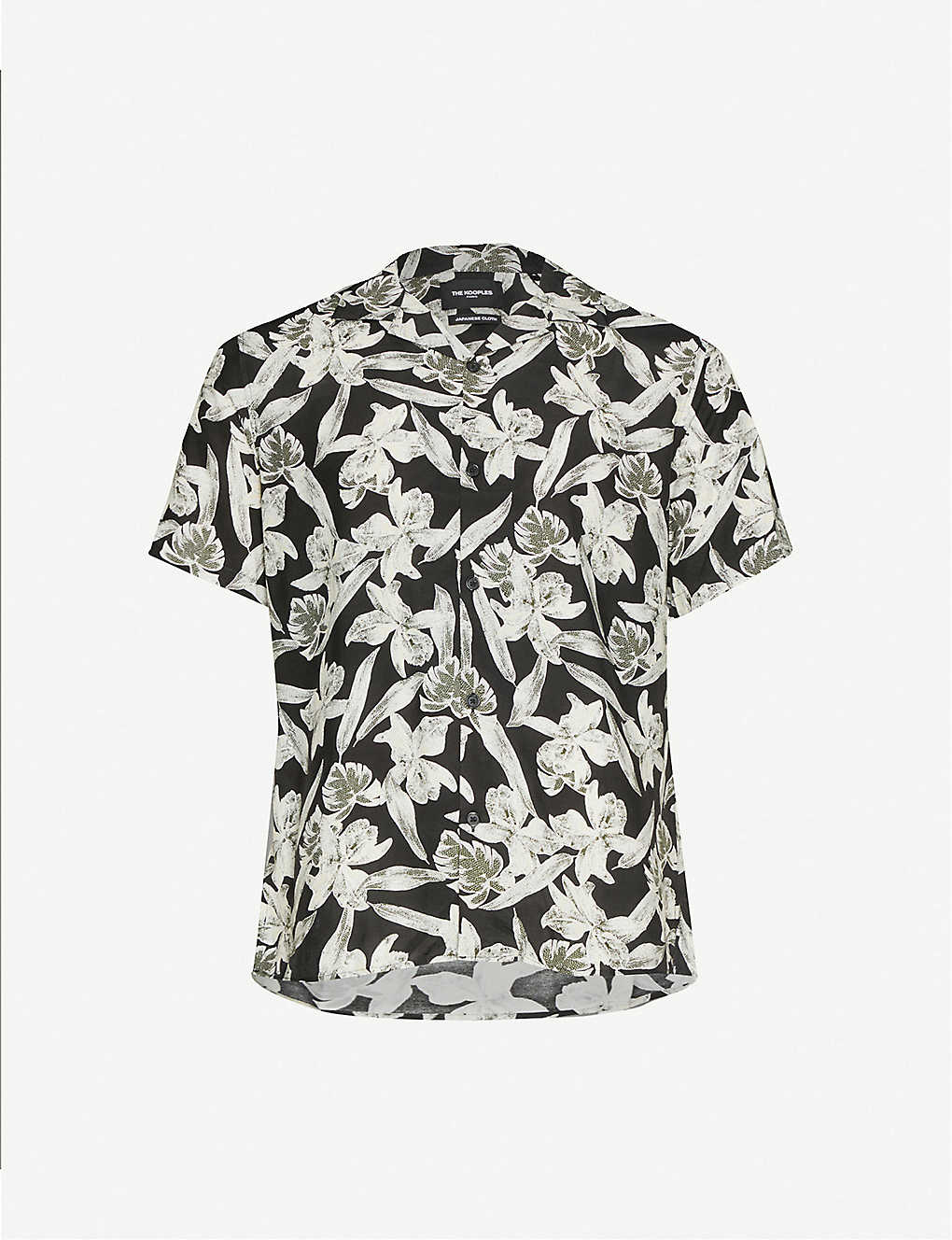 THE KOOPLES: Floral-pattern relaxed-fit woven shirt