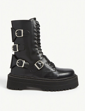 THE KOOPLES Buckled leather boots