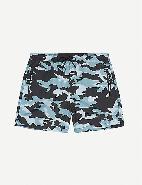 THE KOOPLES SPORT: Camouflage-print swim shorts