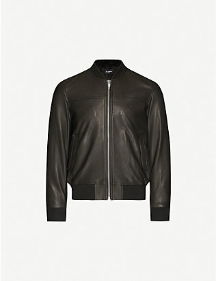THE KOOPLES: Stand collar leather jacket