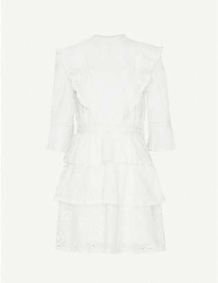 THE KOOPLES: Embroidered cotton mini dress