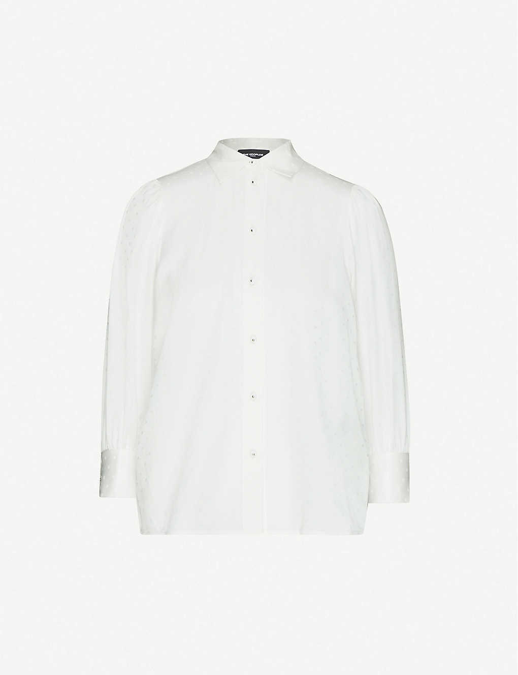 THE KOOPLES: Slim-fit cotton and silk-blend shirt