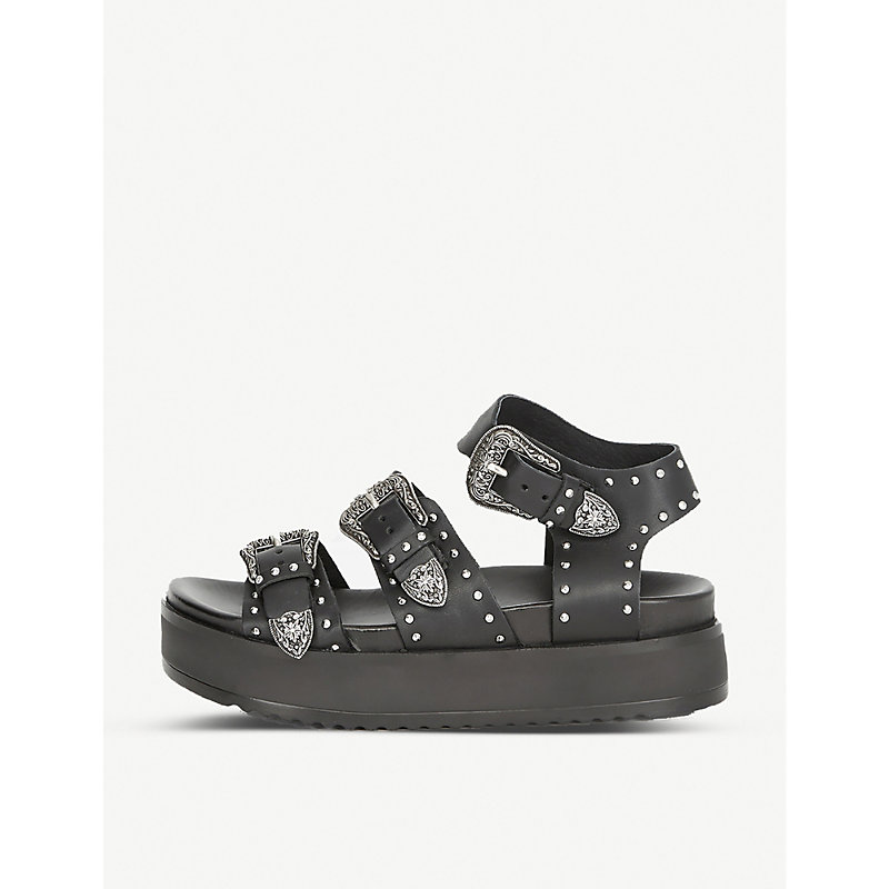 The Kooples STUDDED LEATHER SANDALS
