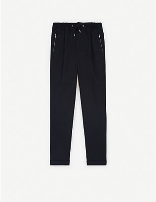THE KOOPLES: Cropped tapered stretch-cotton trousers