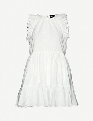 THE KOOPLES: Heart-embroidered cotton mini dress